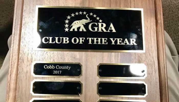 """Cobb Chapter Receives GRA's """"Club of the Year"""""""
